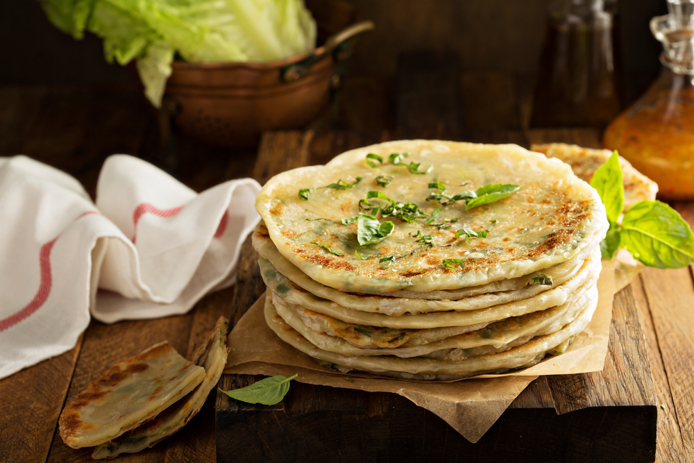 photo of chinese scallion pancakes